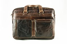 Alpenleder Leren Messenger Bag - Laptoptas Chiemsee Brandy