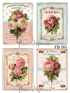 ~ Shabby Chic Vintage French Roses 4 Prints on Fabric Quilting Sewing FB 265 ~ in Crafts, Fabric Shabby Chic Pink, Shabby Chic Salon, Shabby Chic Vintage, Shabby Chic Living Room, Shabby Chic Interiors, Shabby Chic Bedrooms, Shabby Chic Homes, Shabby Chic Style, Shabby Chic Furniture