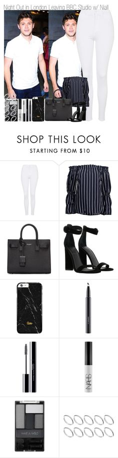 """Night Out in London Leaving BBC Studios with Niall"" by elise-22 ❤ liked on Polyvore featuring Topshop, Yves Saint Laurent, Kendall + Kylie, MAC Cosmetics, shu uemura, NARS Cosmetics, Wet n Wild and ASOS"