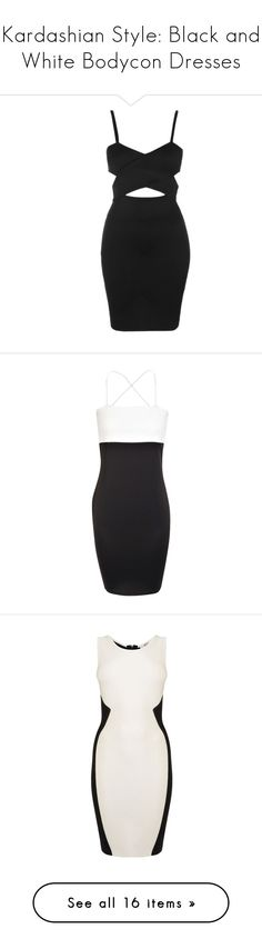 """""""Kardashian Style: Black and White Bodycon Dresses"""" by polyvore-editorial ❤ liked on Polyvore featuring kimkardashian, bodycon, ASOS, T By Alexander Wang, Miss Selfridge, Salvatore Ferragamo, Kenneth Jay Lane, GetTheLook, dresses and vestidos"""