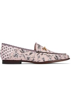 7fc1a6750f06fc Sam Edelman - Loraine leather-trimmed printed canvas loafers