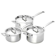 Saucepan Set by Le Creuset. Prepare yourself for a range of cooking tasks with this 3 Piece Saucepan Set. Le Creuset, Stores, Classic, Kitchen, Derby, Cooking, Kitchens, Classic Books, Cucina