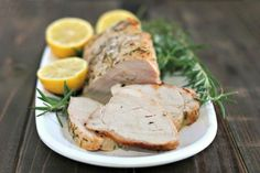 So, how about this pork tenderloin? It's a simple, light and fresh rub using lemon, rosemary & garlic, roasted for about 45 mins - then sliced…