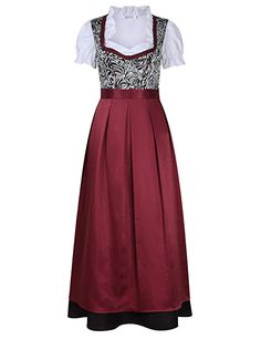 GloryStar Women's German Dirndl Dress 3 Pieces Traditional Bavarian Oktoberfest Costumes for Halloween Carnival: Clothing Halloween Carnival, Halloween Costumes, Oktoberfest Costume, Dirndl Dress, 3 Piece Suits, Dress Suits, Traditional Dresses, Fancy Dress, Two Piece Skirt Set