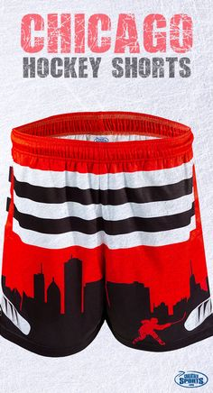 Do you bleed Chicago hockey red? Our Chicago hockey shorts are the perfect gift for any hockey fan and will let you show your love for your team, even when hockey season has passed!