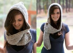 cute hooded scarf