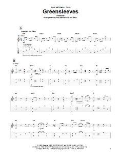 Jeff Beck Group: Greensleeves - Partition Tablature Guitare - Plus de 70.000 partitions à imprimer !
