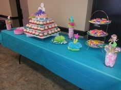 Under the sea cake table all done!