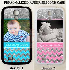 Personalize CUSTOM PHOTO SILVER CHEVRON CASE FOR SAMSUNG GALAXY S6 S5 4 NOTE 4 3 #UnbrandedGeneric