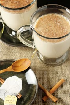 Start your morning with this Earl Grey Tea Latte.