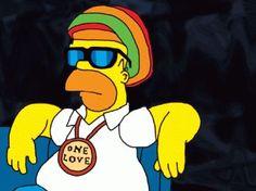 Love me some reggae and love me some Homer Simpson Homer Simpson, Lisa Simpson, Pintura Hippie, Cartoon Pics, Cartoon Art, Mordecai Y Rigby, Los Simsons, Reggae Artists, Hippie Painting