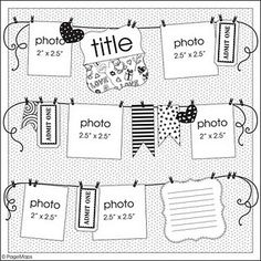Page Maps - when I need inspiration for page layouts or scrapbooking pages.