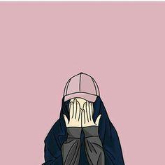 Kumpulan Kartun Hijab Muslimah Cute - Jutaan Gambar Iphone Wallpaper Images, Bear Wallpaper, Cute Wallpaper Backgrounds, Alphabet Wallpaper, Orange Anime, Hijab Drawing, Army Drawing, Deviantart Drawings, Islamic Posters