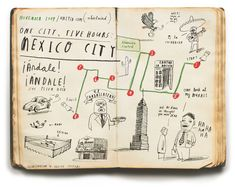 oliver jeffers - map of mexico city
