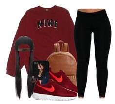 """""""Untitled #441"""" by oh-thatasia ❤ liked on Polyvore featuring NIKE, Steve Madden, women's clothing, women's fashion, women, female, woman, misses and juniors"""