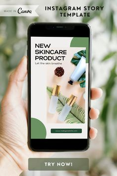 Minimalist Instagram Story Template for Canva in neutral green colors - Instagram templates - Canva editable template - Skincare Product Promotion - Stylish and creative Instagram story - Instagram story designs in minimalist style - Reminder, Notification Instagram post design - For Skincare Shop, Online Shop, Beauty Shop #instagramtemplate #instagramstorydesign #instagramstory #Instagram #Skincarepromotion #skincareproduct #canvatemplate #canva #skincaretemplate #beautyshop #template