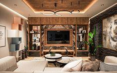 The 50+ Best Entertainment Center Ideas - Home and Design - Next Luxury Basement Living Rooms, Living Room Tv Unit, Tv Wall Design, House Design, Tv Cupboard Design, Living Room Entertainment Center, Entertainment Units, Tv Feature Wall, Modern Tv Wall Units