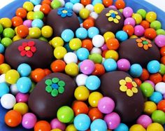 Chocolate Bon Bons - Delicious Double Bite - Truffles with Flowers