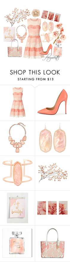 """Afternoon Tea"" by florymcintee ❤ liked on Polyvore featuring ERIN Erin Fetherston, Christian Louboutin, Kendra Scott, Chronicle Books, Oliver Gal Artist Co., Calvin Klein and Kate Spade"