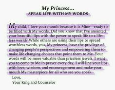 His Princess: Love Letters from Your King - Sheri Rose Shepherd (Speak Life With My Words) Gods Princess, Princess Quotes, Warrior Princess, Princess Party, Faith Quotes, Bible Quotes, Bible Verses, Qoutes, Quotations