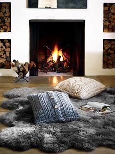 UGG F15-Oversized Knit Pillow-GREY-NAT-Sheepskin Area Rug-Octo-GREY (Medium)