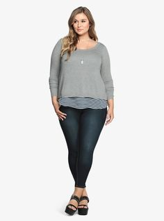 Striped Tank Pullover Sweater | Torrid