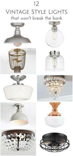 12 Vintage Style Hallway Lights that Won't Break the Bank | www.makingitinthemountains.com