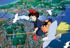 Flying Over a Sea TownA Kiki's Delivery Service #audio #atmosphere#Ghibli #HayaoMiyazaki #Anime #StudioGhibli