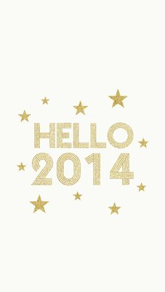 "Free ""Hello 2014"" {iPhone wallpaper} Printable"