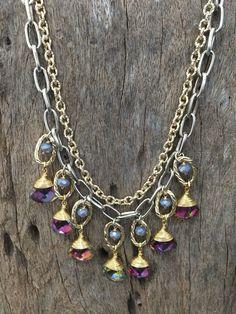 Collar de piedras preciosas #jewelry #fashion