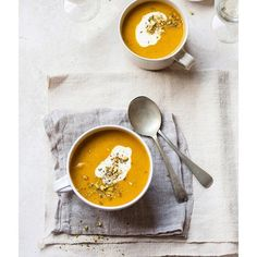 Carrot and Coriander Soup With Cumin and Orange - 17 Downright Delicious Fall Recipes to Pin Now via Healthy Soup Recipes, Fall Recipes, Vegetarian Recipes, Cooking Recipes, Healthy Foods, Fast Foods, Delicious Recipes, I Love Food, Good Food