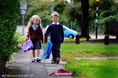 School Uniform comparison : 6 year old twins, Emily and Henry Boothroyd of Whitchurch, are pictured, Emily is wearing Marks and Spencer and Henry is wearing Aldi Uniform School Uniform Shop, Toddler School Uniforms, School Wear, First Day School, School Today, I School, Starting School, School Hacks, School Tips