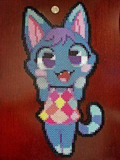 Rosie from Animal Crossing by psycosulu on DeviantArt Rosie Animal Crossing, Animal Crossing Villagers, Lego Mosaic, Kandi, Bead Art, Perler Beads, Pixel Art, Mosaics, Craft Ideas