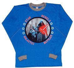 Bluzka Star Rebels niebieska-chopiec S Star, Sweatshirts, Fashion, Tunic, Moda, Fashion Styles, Trainers, Sweatshirt, Fashion Illustrations