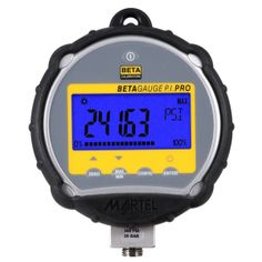 BetaGauge PI-PRO Digital Test Gauge, provides ±0.05% of full scale accuracy of pressure in any one of eighteen (18) ranges.