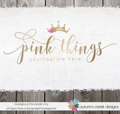 Tiara logo photography logo premade logo gold logos crown logos and watermarks…