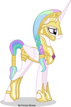 Princess Celestia going to war with helmet by Vector-Brony on deviantART