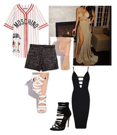 """Untitled #266"" by xoxo-maneshass on Polyvore featuring Moschino, Posh Girl, H&M, women's clothing, women, female, woman, misses and juniors"
