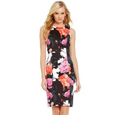 FLASH SALE✨Vince Camuto Floral Printed Dress So pretty and perfect for a garden party of paired with a blazer for the office. Brand new with tags! No trades!! 052716100dr Vince Camuto Dresses