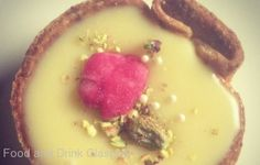 White Chocolate Pistachio Rose Tart from Bakery47  http://www.chowzter.com/fast-feasts/europe/Glasgow/review/Bakery47/White-Chocolate-Pistachio-Rose-Tart/6101_6185