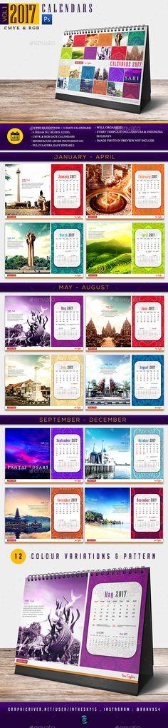 Creative Wall Calendar 2018 V10 Creative walls, Calendar 2017 - calendar sample design