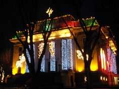 Christmas in Prescott. The Courthouse Square all lit up for the holidays