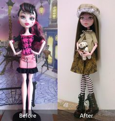 Amber (OOAK MH doll - before after) by Lunai on DeviantArt