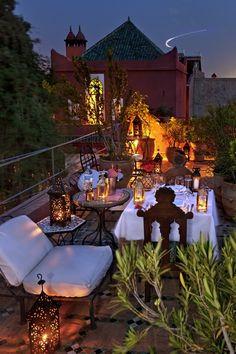 Rooftop dining at Riad Kaiss, Morroco | Tumblr credit Riad Kaiss
