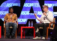Big Sean and Diplo during their panel Decent Work for Decent Pay