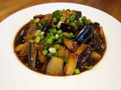 Japanese spicy sweet and sour eggplant recipe, via Vegan Asian Eats. (I'll be enjoying this one solo since my nearest and dearest do not eat eggplant)