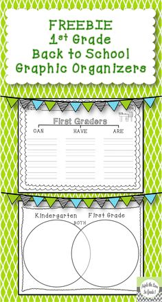 This FREEBIE includes 2 back to school graphic organizers. The first one has students fill in a CAN/HAVE/ARE chart to describe 1st graders. The second one is a Venn diagram comparing kindergarten to first grade. I like to do this activity whole class on large chart paper and have the students use my copy to help fill in theirs.