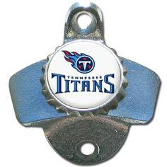 NFL Tennessee Titans Wall Bottle Opener by Siskiyou. $14.78. Mounts right to the wall. Great for indoor or outdoor use. Officially Licensed NFL Merchandise. Our Tennessee Titans sturdy wall mounted bottle opener is a great addition for your deck, garage or bar to show off your team spirit.