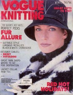 VOGUE KNITTING Winter 1995-96 Red Hot Holidays Metallics Gifts Vittadini DKNY  #VogueKnitting