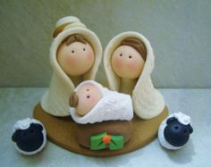 Set presepe di countrycupboardclay su Etsy